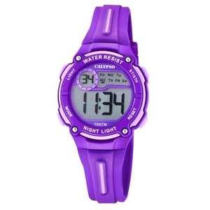 【送料無料】腕時計 ウォッチ カリプソアラームデジタルマルチファンクションリラゴムcalypso reloj nio digital multifuncin caucho lila k60682