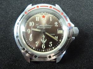 【送料無料】腕時計 ウォッチ ヴォストークソブラウンゴールドvostok komandirskie uboot funcionan made in urss oro marrn