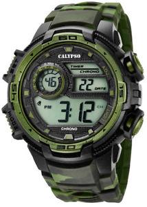 【送料無料】腕時計 ウォッチ カリプソデジタルクォーツアラームクロックプラスチックcalypso hombres reloj de cuarzo digital plstico alarma parada reloj negroverde k57232