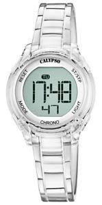 【送料無料】腕時計 ウォッチ アラームカリプソデジタルcalypso kinderuhr digital de cuarzo blanco con alarma parada funcin y luz k57371
