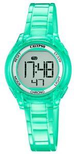 【送料無料】腕時計 ウォッチ カリプソアラームデジタルグリーンクォーツcalypso kinderuhr cuarzo verde digital con alarma funcin de parada y luz k57375