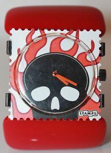 【送料無料】腕時計 ウォッチ アラームスタンプデッドネットワークスタンプstamps reloj welcome to hell 100102 stamps belta oval red muerto stamps
