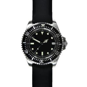 腕時計 ウォッチ シリコンブランドダイバーmwc 24 jewels 300m automatico acciaio silicone nero no brand uomo orologio diver