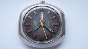 腕時計 ウォッチ タイタンクロックヴィンテージアラームreloj titan automatic, 38mm, reloj de pulsera, vintage automatik reloj hombre