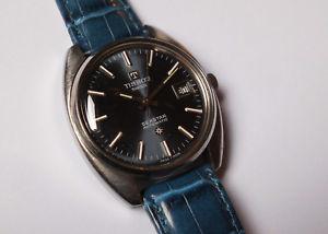 【送料無料】腕時計 ウォッチ ティソスチールビンテージスイスアラームcaballeros vieja tissot seastar automatic con fecha en acero 70er vintage swiss reloj