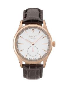【送料無料】腕時計 ウォッチ アラームダークブラウンアナログgant reloj hombre huntington w71003 analgico cuero marrn oscuro