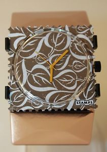 【送料無料】腕時計 ウォッチ アラームメタルローズゴールドスタンプブレスレットstamps leaves reloj belta metal rose oro stamps pulsera