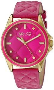 【送料無料】腕時計 ウォッチ ニューヨークソーホーローズクォーツレザーストラップsoamp;co york mujer 52012 soho cuarzo rosa acolchado reloj correa de cuero
