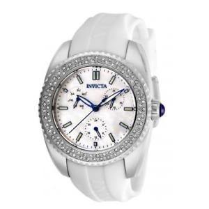 【送料無料】腕時計 ウォッチ ステンレススチールクオーツシリコンinvicta mujer ngel cuarzo 100m acero inoxidable blanco reloj de silicona 28486