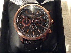 腕時計 ウォッチ フレンチコネクションブラックローズゴールドウォッチnuevo reloj para hombres french connection oro rosa y negro
