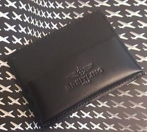 【送料無料】腕時計 ウォッチ ブライトリングドキュメントカードホルダーtitular de la tarjeta de documentos de cuero genuino breitling nuevo negro