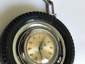 腕時計 ウォッチ アラームキーチェーンビンテージreloj llavero vintage hoba 17rubis antimagnetic sswiss made