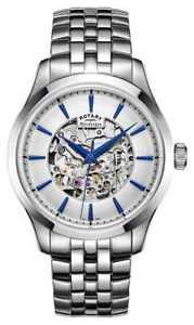 【送料無料】腕時計 ウォッチ スチールベルトロータリーフィールドrotary esfera de plata de la correa de acero de gb0503206 relojes 22
