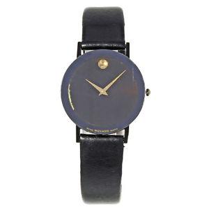 【送料無料】腕時計 ウォッチ ブラックスチールクォーツmovado museo ultra plano acero negro pvd reloj de cuarzo mujer 8740882