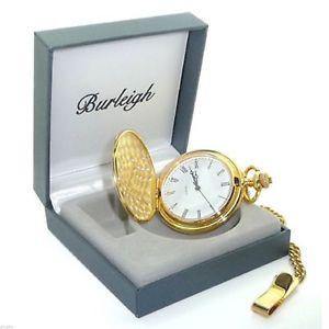【送料無料】腕時計 ウォッチ ボックスゴールドポケットウォッチburleigh oro acabado reloj de bolsillo en caja de regalo
