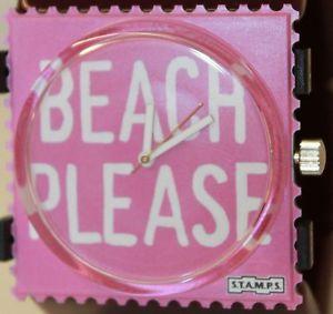 【送料無料】腕時計 ウォッチ ビーチシグネチャスタンプstamps playa por favor original 104655 sintonas sellos
