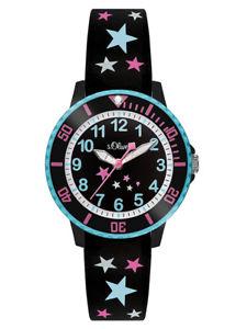 【送料無料】腕時計 ウォッチ オリバーキッズブラックスターsoliver kids reloj de pulsera so3406pq nuevo estrella negro colores nios