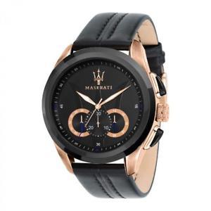 腕時計 ウォッチ アラームクロノマンマセラティマセラティブラックreloj chrono hombre maserati traguardo r8871612025 negro