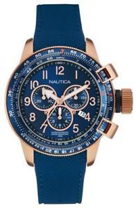 【送料無料】腕時計 ウォッチ クロノグラフゴムブレスレットnautica seores reloj pulsera chronograph nai28500g rosegold con caucho pulsera
