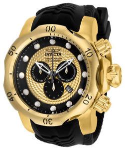 【送料無料】腕時計 ウォッチ クロノグラフマンブラックシリコンウォッチ20443 invicta 537mm hombres venom crongrafo negro reloj de silicona