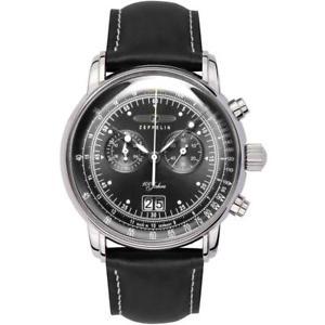 腕時計 ウォッチ ツェッペリングラファイトブラッククロノグラフzeppelin 100 aos crongrafo negro grafito con grandes fecha