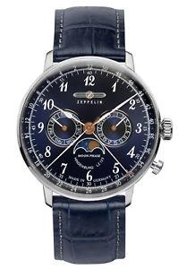 【送料無料】腕時計 ウォッチ ツェッペリンクロックマンヒンデンブルクムーンフェイズzeppelin reloj hombre lz129 hindenburg luna fase 70363