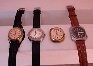 腕時計 ウォッチ リップシャルルドゴールクロワデュシュッドタイプロットlot de 4 montres lip electronic gnral de gaulle croix du sud type 10 r184