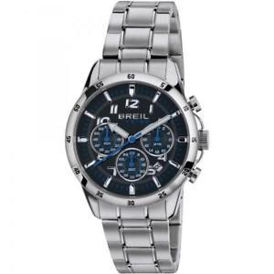 【送料無料】腕時計 ウォッチ クロノネロブルメートルorologio uomo breil tribe circuito ew0252 chrono bracciale acciaio nero blu 50mt