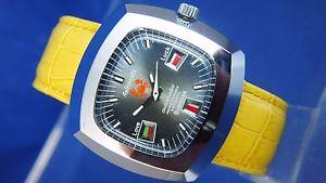 【送料無料】腕時計 ウォッチ ビンテージスイスサインcaballeros nos vintage astromatic cncer signo reloj automtico suizo 1970s