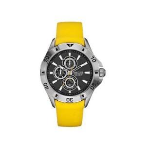 【送料無料】腕時計 ウォッチ シリコーンメートルorologio uomo nautica nst 06 a14613g multifunzione silicone giallo grigio 100mt