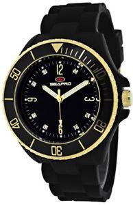 腕時計 ウォッチ スイスクオーツプラスチックバブルシリコンseapro mujer mar burbuja cuarzo suizo plstico negro  reloj de silicona sp7410