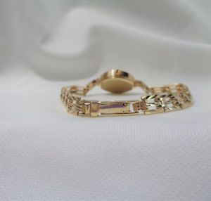 腕時計 ウォッチ ゴールドブレスレットreloj de cuarzo seoras accurist con pulsera de oro 9ct con dibujoslongitud de 6 34 en