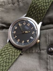 【送料無料】腕時計 ウォッチ ビンテージミリタリーアラームベルトスチールvintage yema militar reloj acero correa manual 36,15mm