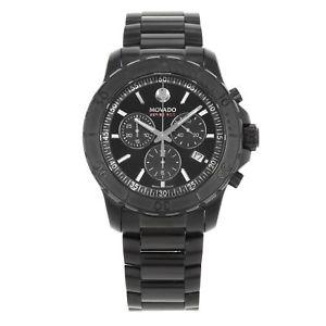 【送料無料】腕時計 ウォッチ シリーズステンレススチールブラックコーティングmovado serie 800 negro pvd recubierto rotatorio acero cuarzo reloj de hombre