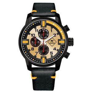 腕時計 ウォッチ ダーウィンレディースクロノグラフオレンジroadsign chronograph darwin seores reloj de pulsera, cuero negro, naranja