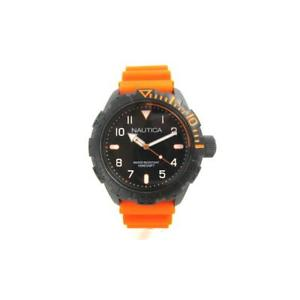 【送料無料】腕時計 ウォッチ シリコーンサブメートルorologio uomo nautica nad10082g silicone arancione nero sub 100mt