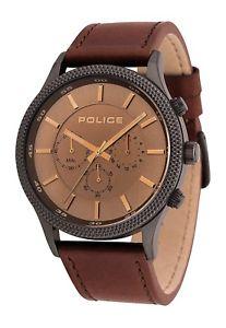 【送料無料】腕時計 ウォッチ アラームブラウンレザーストラップペースla polica ritmo para hombre reloj correa de cuero marrn 15002jsu13 pvp 159