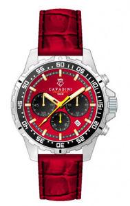 【送料無料】腕時計 ウォッチ モデルリングlujo chronographconqueror cavadini reloj giratorias anillo en rojo model 2018