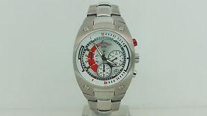 【送料無料】腕時計 ウォッチ クロノビアンコロッソchronotech orologio 7003m uomo chrono acciaio sottocosto bianco e rosso watch