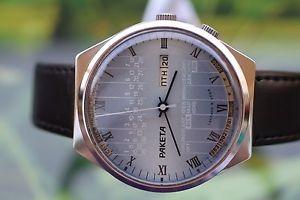 【送料無料】腕時計 ウォッチ クロックソマルチカレンダーpara hombres reloj muy grande urss raketa 17 joyas con calendario multi original
