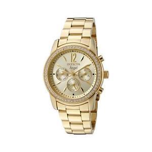 【送料無料】腕時計 ウォッチ ステンレススチールクロノグラフゴールドフィールドアラームinvicta mujer ngel crongrafo de acero inoxidable oro esfera reloj 11770