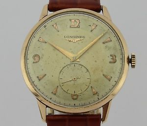 ビンテージkゴールドマンlongines 【送料無料】腕時計 man 18k winding gold ウォッチ vintage manual