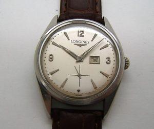 acier date 【送料無料】腕時計 c89p1 a en 1960 ウォッチ manuel excentre remontage a de マヌエルlongines