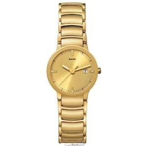【送料無料】腕時計 ウォッチ レディースステンレススチールアラームrado centrix r30528253 damas acero inoxidable chapado en oro 35mm fecha reloj