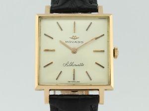 【送料無料】腕時計 ウォッチ ビンテージシルエットkゴールドmovado vintage silhouette manual winding 18k gold