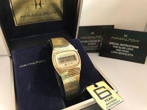 【送料無料】腕時計 ウォッチ kゴールドメッキhamiltom tl 3h trilite 14k gold plated quartz lcd led watch