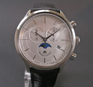【送料無料】腕時計 ウォッチ ハウモーリスロアフェーズクロノグラフスチールスチールアラームマンhau maurice amp; lacroix fases lunares chronograph lc 1148 acero steel reloj hombre nuevo