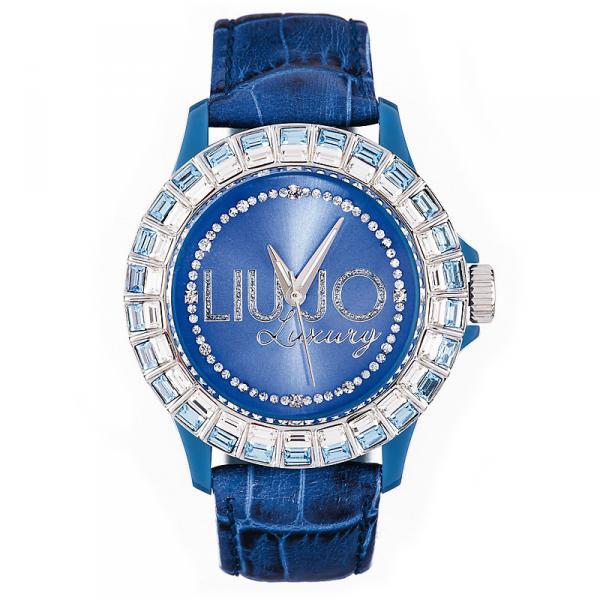 腕時計 ウォッチ ドナリュジョスワロフスキーバゲットベラペレレディorologio donna liu jo luxury baguette vera pelle swarovski 10 colori lady dd