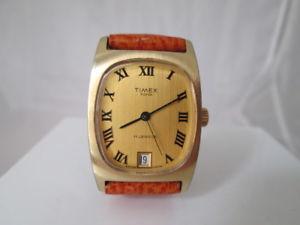 腕時計 ウォッチ メッキスチールカレンダースイスtimex 100 acero  chapado oro cuerda manual aos 50 calendario suiza