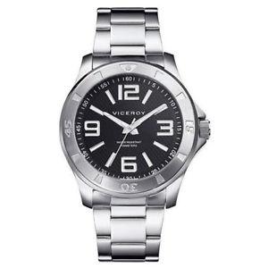 【送料無料】腕時計 ウォッチ ヴィセロイメートルナイトviceroy 43220355 de caballero en acero sumergible 100 metros